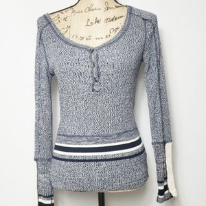 Free people sweater with crochet sleeves xs